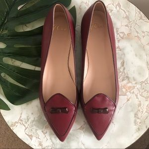 NWOT J.Crew Two-Toned Pointed Toe Flats with Bow